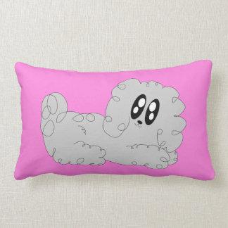 Cute Cartoon Curly Poodle Puppy Dog Lumbar Pillow