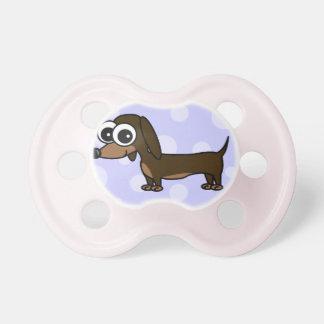 Cute Cartoon Dachshund Pacifiers