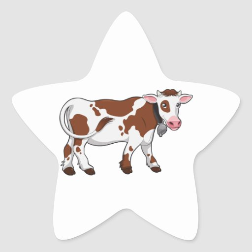 Cute Cartoon Dairy Cow Stickers