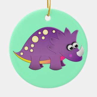 Cute Cartoon Dinosaur Ceramic Ornament
