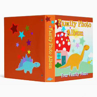 Cute Cartoon Dinosaur Family Photo Album Vinyl Binders
