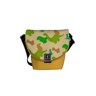 Cute Cartoon Dinosaur Pattern Messenger Bags