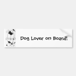 Cute Cartoon Dog Bumper Sticker