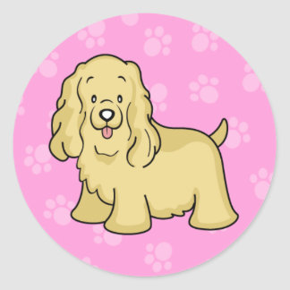 Cute Cartoon Dog Cocker Spaniel Sticker