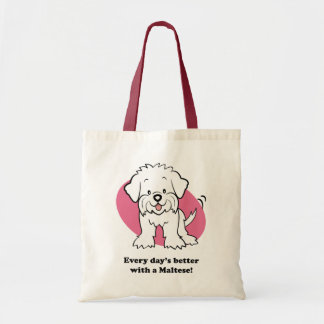 Cute Cartoon Dog Maltese Bag