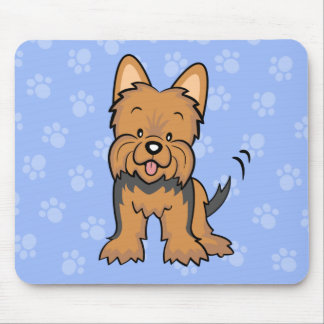 Cute Cartoon Dog Yorkie Mousepad