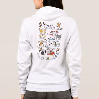 cute cartoon dogs hoodie