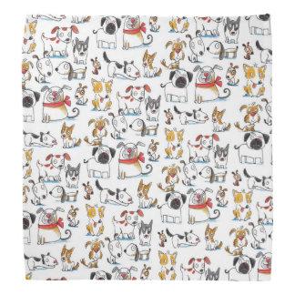 cute cartoon doodle dogs pattern bandana