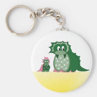 Cute Cartoon Dragons Keychain