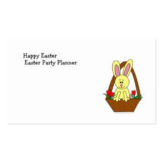 Cute Cartoon Easter Bunny in a Basket Business Card