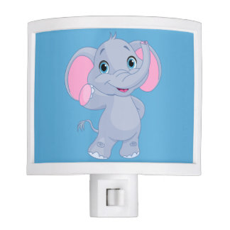 Cute Cartoon Elephant Nite Lite
