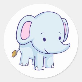 Cute Cartoon Elephant Shirts Classic Round Sticker
