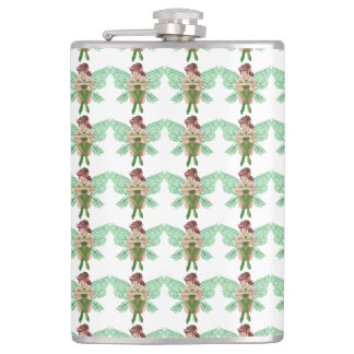Cute cartoon fairy hip flask