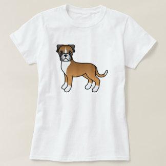 Cute Cartoon Fawn Boxer Dog