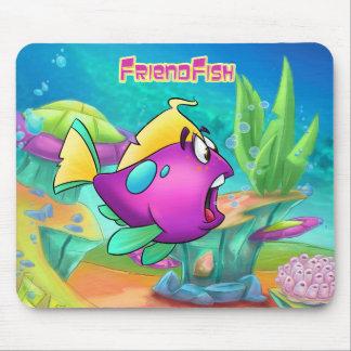 Cute cartoon fish mouse pad