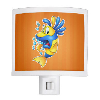 Cute cartoon fish night light for kids room