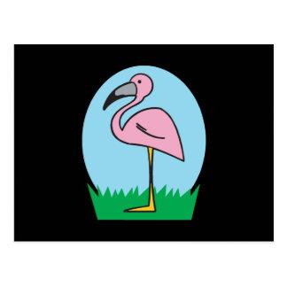 cute cartoon flamingo postcards