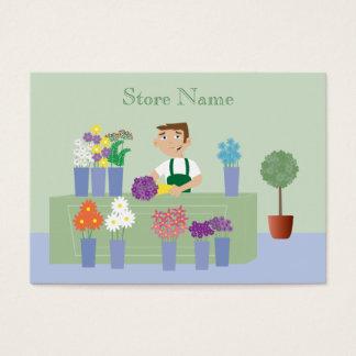 Cute Cartoon Florist & Flowers Business Cards