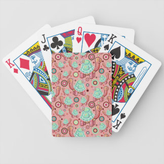 Cute Cartoon Flower Tortoise Bicycle Playing Cards
