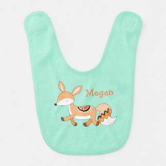Cute Cartoon Fox Custom Baby Bib