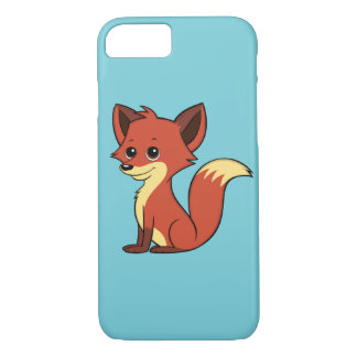Cute Cartoon Fox Light Blue iPhone 7 Case