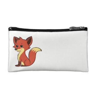 Cute Cartoon Fox White Cosmetic Bag