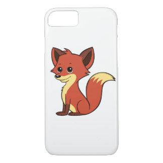 Cute Cartoon Fox White iPhone 7 Case