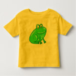 Cute Cartoon Frog Toddler T-shirt