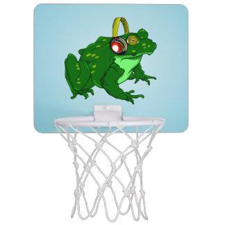 Cute Cartoon Frog Wearing Headphones Mini Basketball Hoop
