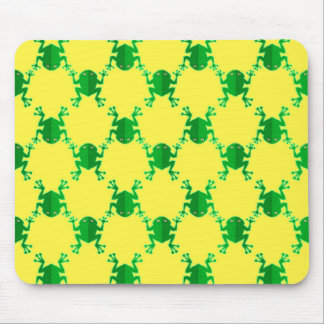 Cute Cartoon Frogs Mouse Pad