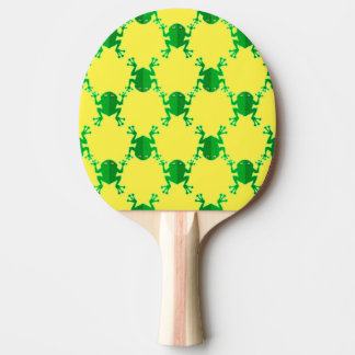 Cute Cartoon Frogs Ping Pong Paddle