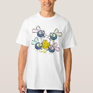 Cute Cartoon Fruit Flies Drinking Beer T-Shirt