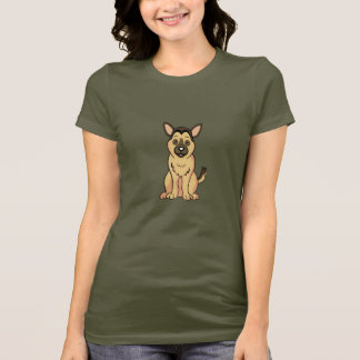 Cute Cartoon German Shepherd T-Shirt