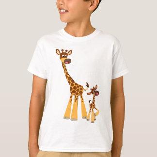 Cute Cartoon Giraffe and Calf  Kids T-Shirt