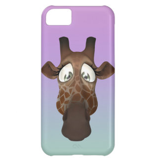 Cute Cartoon Giraffe Face iPhone 5C Covers
