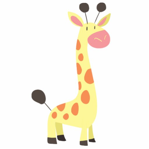 Cute Cartoon Giraffe Acrylic Cut Out