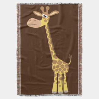 Cute Cartoon Giraffe Throw Blanket
