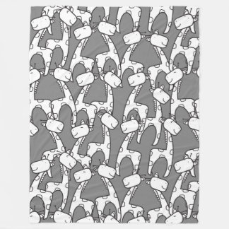 Cute cartoon giraffes pattern fleece blanket