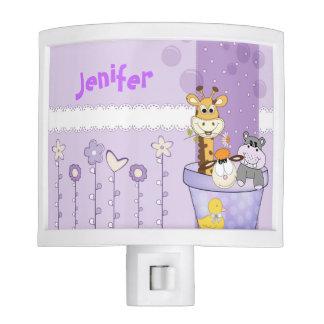 Cute cartoon girl Night Light
