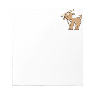 Cute Cartoon Goat Notepad