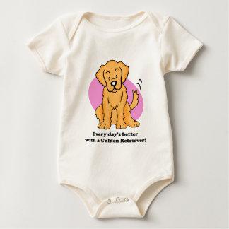 Cute Cartoon Golden Retriever Baby Tee