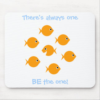 Cute  Cartoon Goldfish Inspiring Saying For Kids Mouse Pad