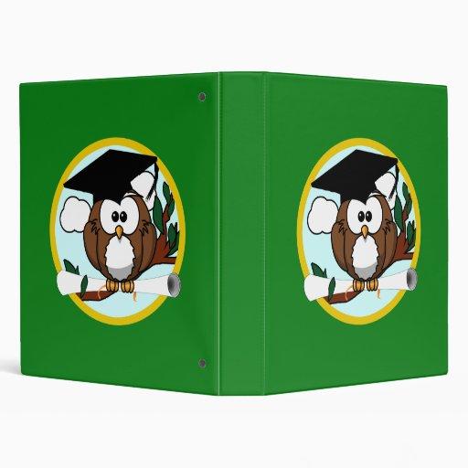 Cute Cartoon Graduation Owl With Cap & Diploma