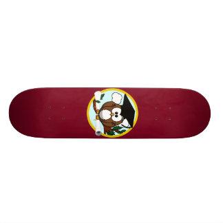 Cute Cartoon Graduation Owl With Cap & Diploma Skate Board Deck