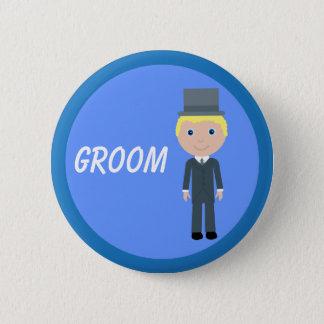 Cute Cartoon Groom 2 Inch Round Button