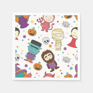Cute cartoon Halloween pattern Paper Napkins