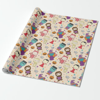 Cute cartoon Halloween pattern Wrapping Paper