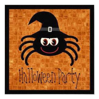 Cute Cartoon Halloween Spider Card