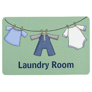 Cute Cartoon Hanging Clothes Laundry Floor Mat