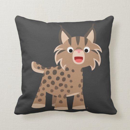 Cute Cartoon Happy Lynx Pillow